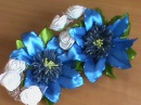 Украшение для волос с экзотическими цветами канзаши на резиночках для девочек