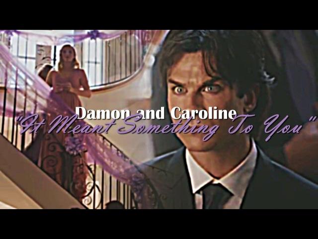 Damon and Caroline |