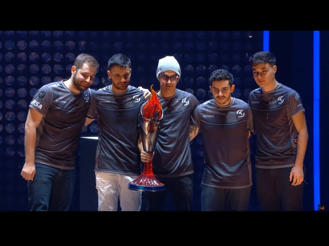 ECS Season 3 SK-gaming are the champions! Winning moment. Grand Final 21 vs Faze Clan CyberWins