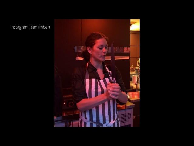 Marion Cotillard joue les chefs dans les cuisines de Jean Imbert