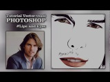 Tutorial photoshop | vector/vexel art (Tom Cruise) #Eyes and lips