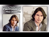 Tutorial Photoshop | Vector - Vexel art Hair (Tom Cruise)