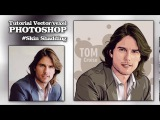 Tutorial Vector Vexel Photoshop (Tom Cruise) Skin and T-Shirt Shadding