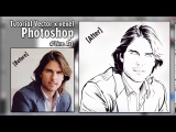 Tutorial Vector x Vexel Photoshop #Line Art (Tom Cruise)