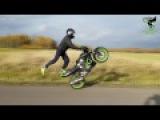 Autumn stunts - winter edit  cbr 125  Patryk Kwec stunts