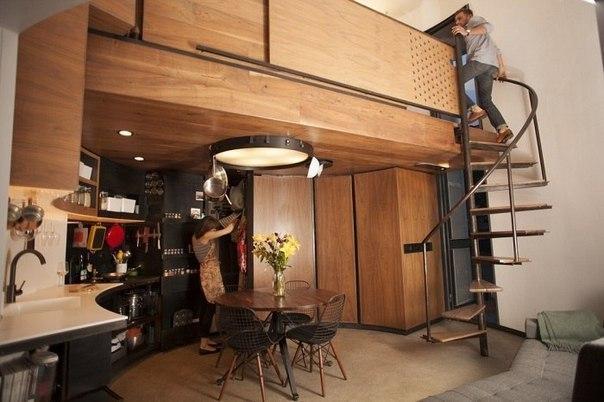 Компактный домик-цилиндр площадью всего 31 кв.