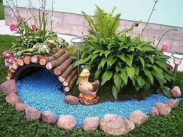 Декоративный сухой ручей