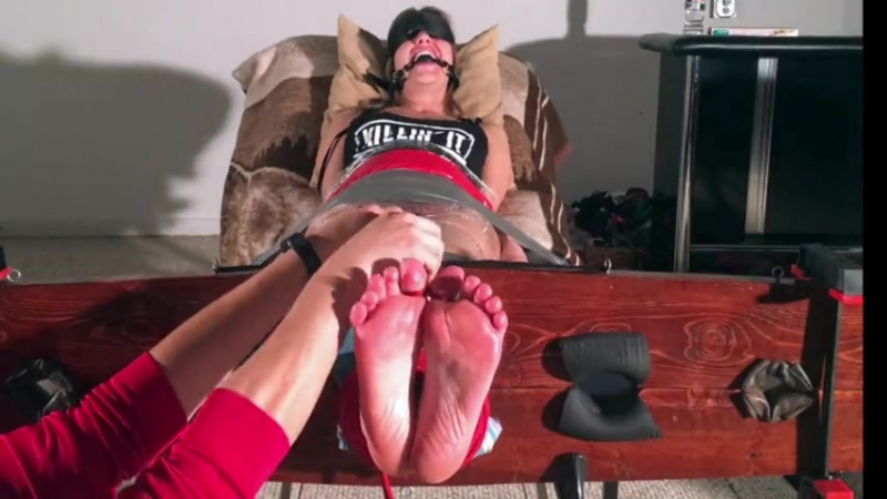 Briella Jaden Ball Gagged and Stocked