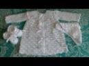 Крестильный набор.Вязание крючком-платье,ажурные пинетки,шапочка.