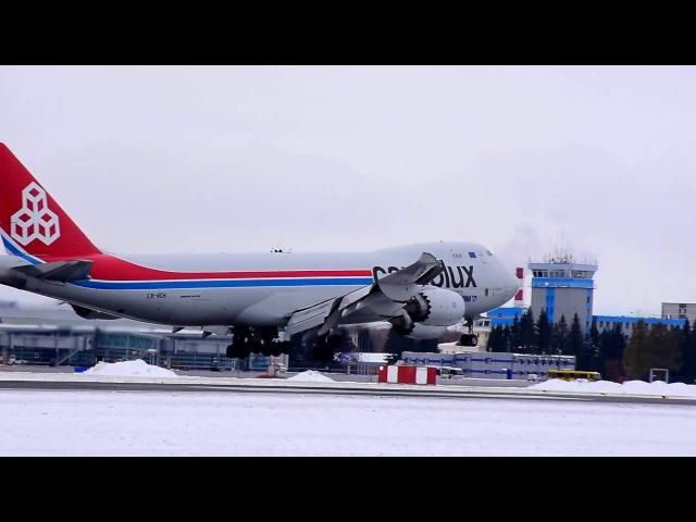 Boeing 747-8F (LX-VCH). Cargolux. Толмачево (OVB, UNNT)
