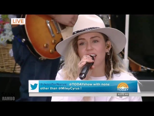 Miley Cyrus - Malibu (Live on the TODAY Show 2017)