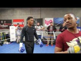 Daniel Jacobs shows off explosive power with mitt work for Golovkin