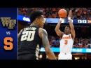 Wake Forest vs. Syracuse Men's Basketball Highlights (2016-17)