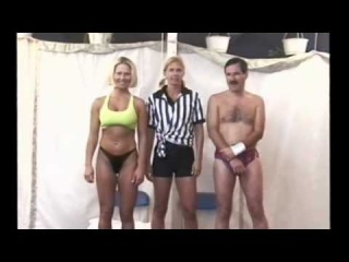 FBB 013 Jill Monroe vs David - Real Mixed wrestling - Hot Female Muscle Squeeze