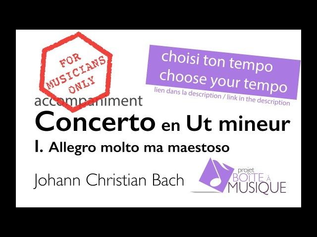 J.Ch.Bach/H.Casadesus Concerto en ut mineur pour alto, violon ou violoncelle (accompagnement piano)