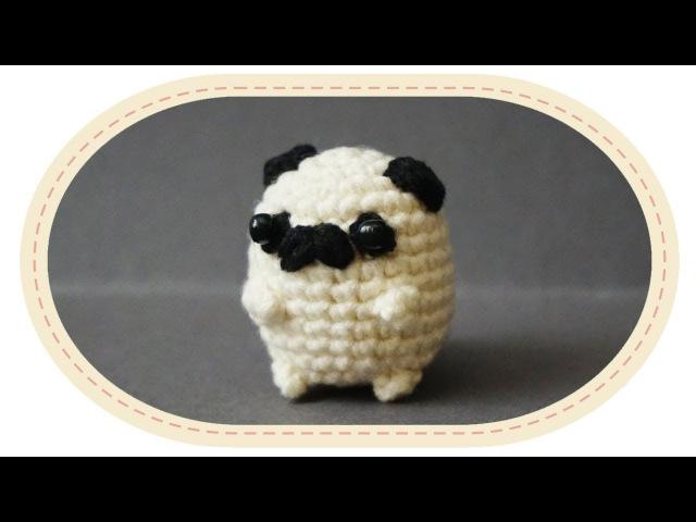 Вязаный мопс амигуруми Crochet pug amigurumi