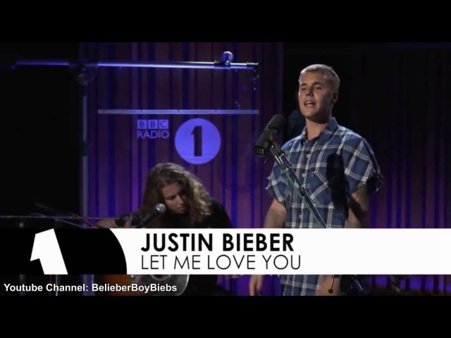 Justin Bieber Let Me Love You (Acoustic) I BBC Radio Live
