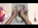 Живопись шерстью Видео урок Нежные розы Прованса