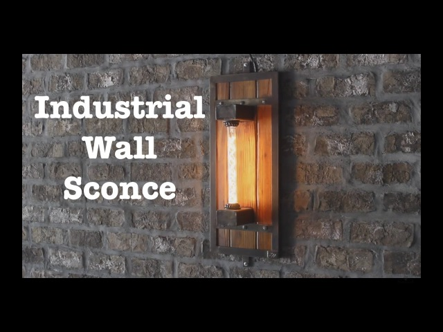 Industrial wall sconces for Escape Brewing How To