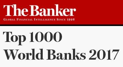 The Banker опубликовал рейтинг крупнейших банков мира по итогам 2016 г
