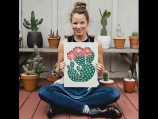 Создание принтов в виде кактусов от Lili Arnold