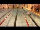 Первое соревнование по плаванию .