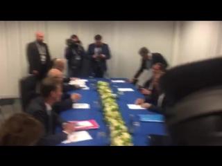Глава МИД РФ Сергей лавров провёл встречу с генсеком обсе Ламберто Заньером