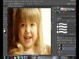 Художня обробка дитячої фотографії або як я із звичайної фотографії малюю картинку)))