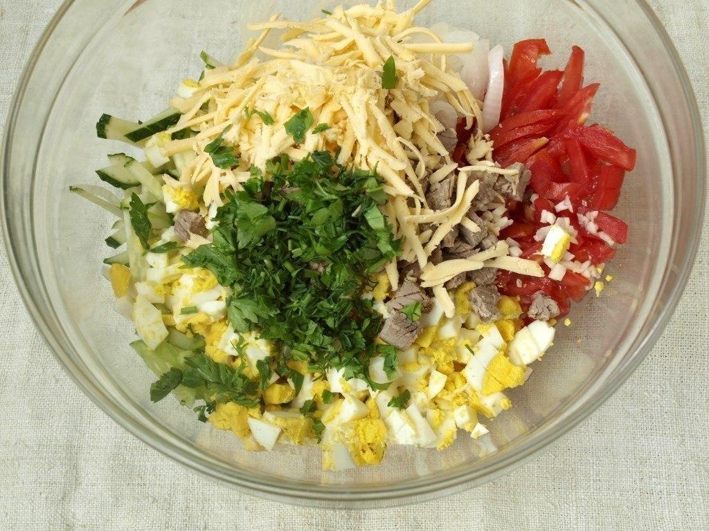 """Салат """"Бахор"""". Предлагаю вам рецепт вкусного, освежающего салата"""
