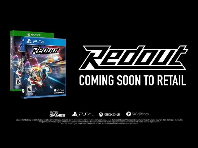 Redout PlayStation 4/Xbox One Retail Announcement trailer [ESRB E]