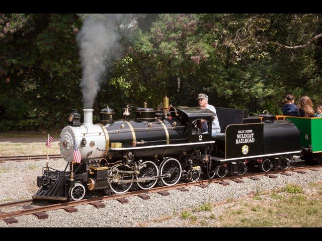 The Beautiful Billy Jones Wildcat Railroad at Vasona Park - 18 gauge Live Steam in Los Gatos - 60p