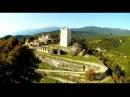 Крепость Анакопия на вершине горы с гоночного дрона
