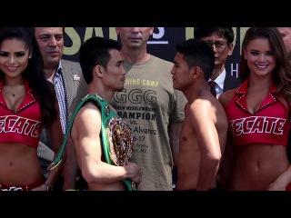 SRISAKET SOR RUNGVISAI VS. ROMAN CHOCOLATITO GONZALEZ 2 FULL WEIGH IN & FACE OFF VIDEO