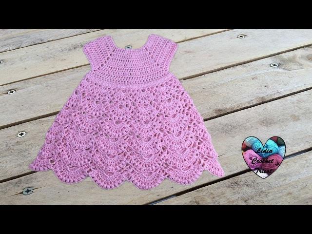 Robe princesse crochet toutes tailles 1 2 Princess dress crochet all sizes english subtitles