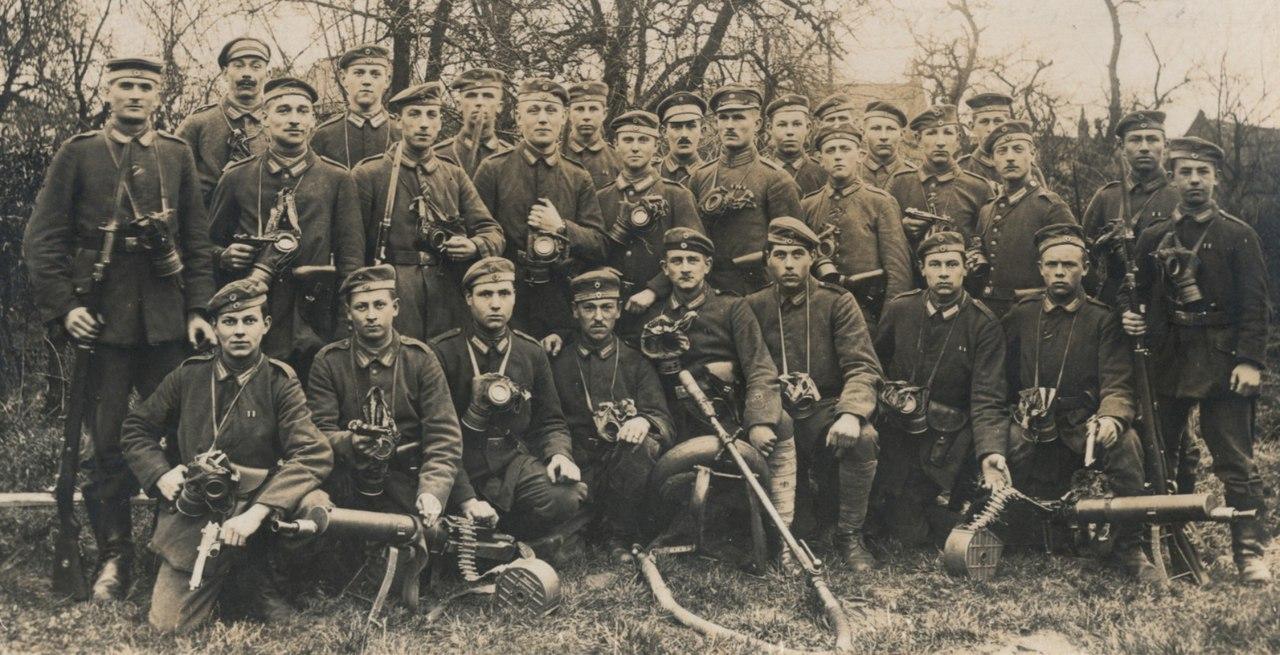 Немецкая штурмовая рота, 1917г