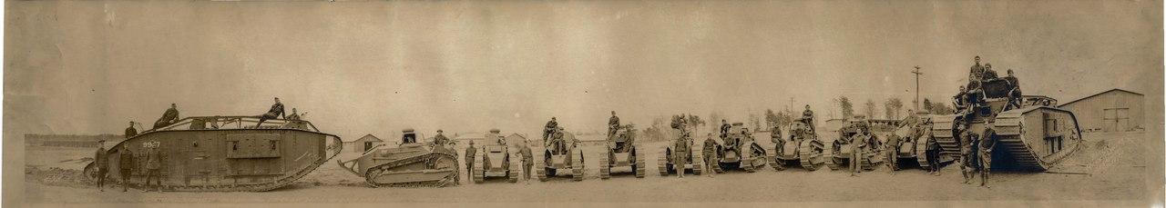 Танки американского Танкового Корпуса, осень 1918г