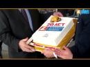 Сотрудники Элемент Лизинг поздравляют липецкого дилера Авто-ММ с 20-летием