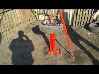 Шиномонтаж своими руками. Ручной шиномонтажный станок. Homemade manual tire chan