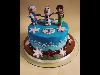 Тортик для Дариночки за мотивами мультфільму #frozen