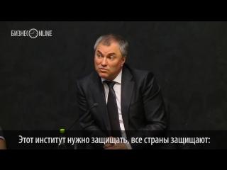 Володин поддержал идею закона о защите чести и достоинства президента РФ