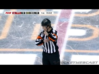 Hockey Ref Wes McCauley: 5 MINUTES EACH FOR FIGHTING! - Feb 12, 2017 (HD)