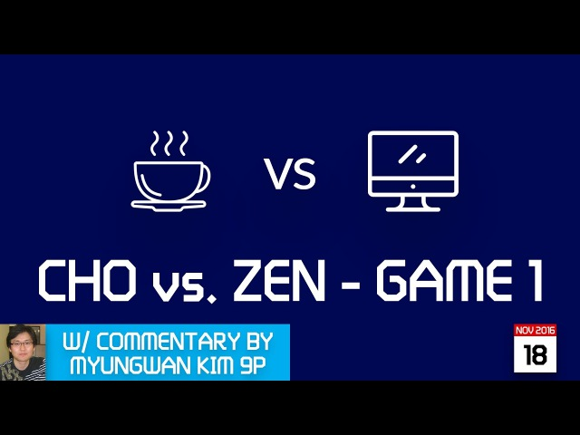 LIVE Cho Chikun (b) 9p vs DEEP ZEN GO (w), game 1/3, commentary by Myungwan Kim 9p!