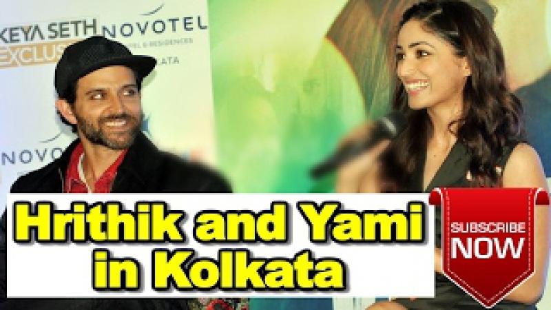 देखिये - Hrithik Roshan Yami Gautam Kaabil के Promotion के लिए Kolkata पहुंचे.