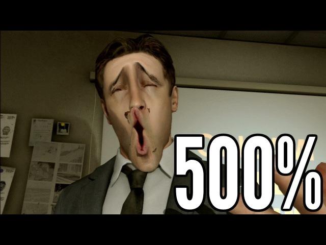 Heavy Rain but 500 facial animations
