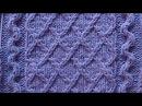 Рельефный узор Ромбики к джемперу London Town Вязание спицами Видеоуроки