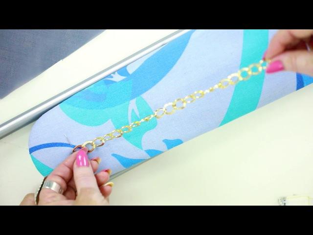 Изготовление тесьмы в стиле Chanel с цепочкой и шифоном Мастер-класс на ютуб канале по шитью