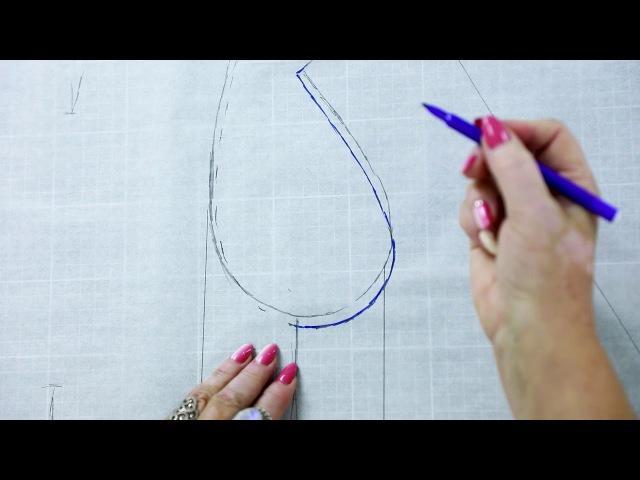 Моделирование классического женского жакета Как сделать выкройку жакета от баз...
