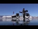 Cycling on ice - Baikal lake