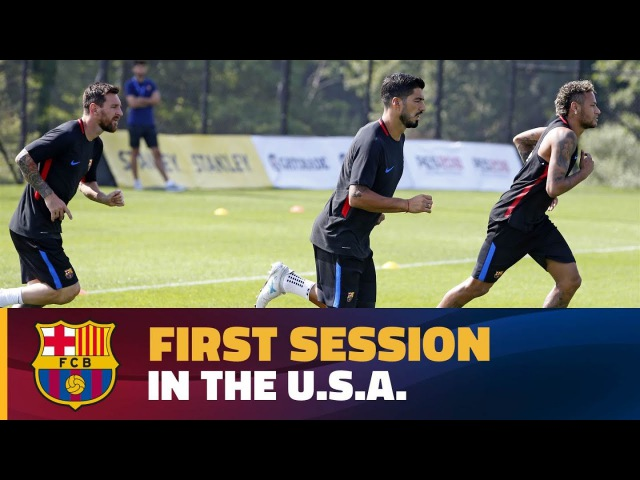 First training session at the Red Bull Training Facility