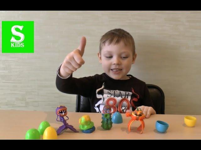 Жвачка для рук! Набор в яйцах! Прыгающая игрушка Silly Hand! Gum toy bouncing gum! Plants vs Zombie